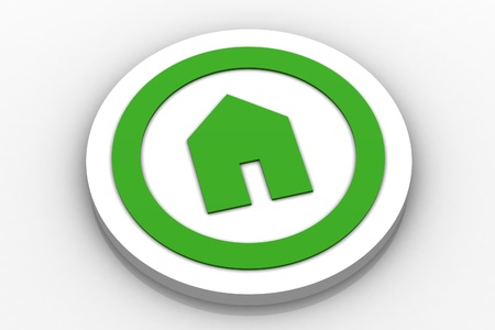 Home Icon Button Stock Photo - 13284057