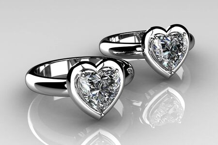The beauty wedding ring .3D photo