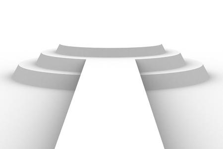 Empty white podium Stock Photo - 13609261