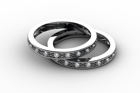 The beauty wedding ring photo