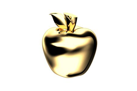 gold apple on gold background Stock Photo - 13660232