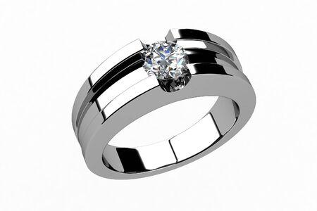 The beauty wedding ring Stock Photo