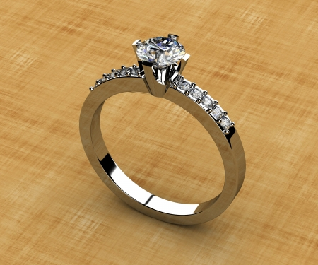 The beauty wedding ring Stock Photo - 14035825
