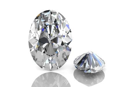 흰색 배경에 다이아몬드 보석