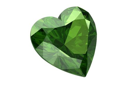 green tourmaline: Peridot on white background Stock Photo
