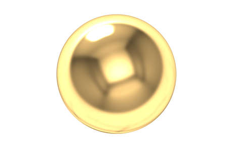 Gold Ball 3d render Stock Photo - 14207200