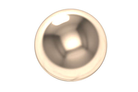 Cobre bola 3d photo