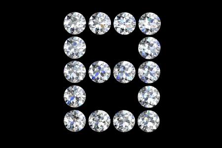 diamond letters: The letter B 3d diamond art illustration
