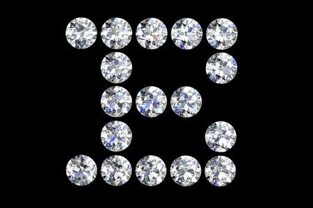 The letter E 3d diamond art illustration Stock Illustration - 14413416