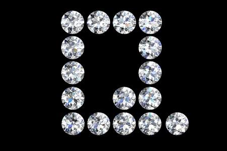 The letter Q 3d diamond art illustration illustration