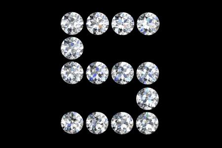 The letter S 3d diamond art illustration Stock Illustration - 14413407