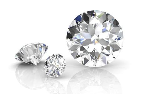 흰색 배경에 다이아몬드 보석. 높은 품질의 3d 렌더링