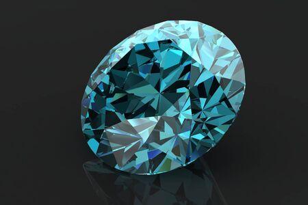 diamond jewel on white background. High quality 3d render Stock Photo - 14413390
