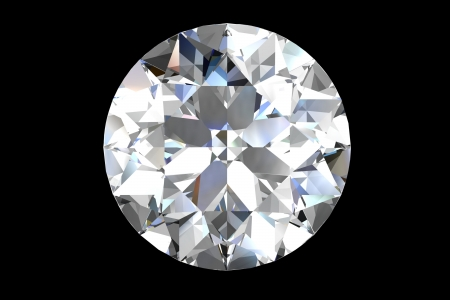 diamond jewel on black background Stock Photo - 14556557
