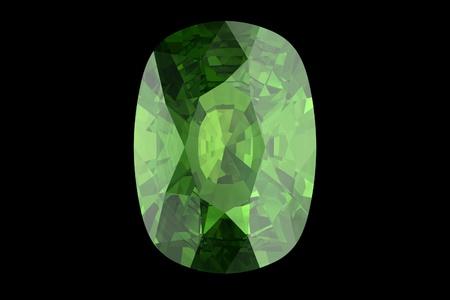 green tourmaline: peridot