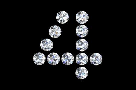 Diamond number four Stock Photo - 14556564