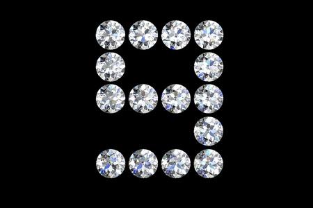 Diamond number nine photo