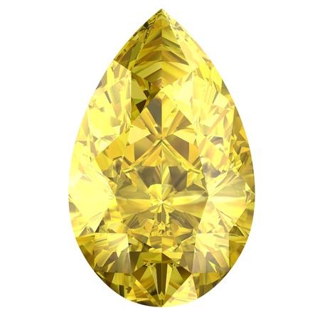 citrine: yellow sapphire Stock Photo