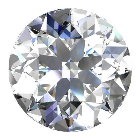 queen of diamonds: diamond jewel on white background