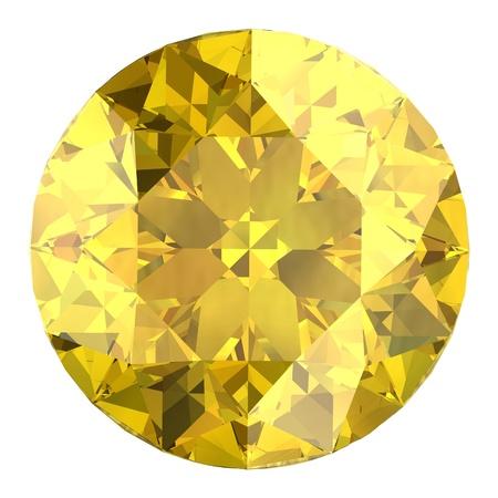yellow sapphire Stock Photo