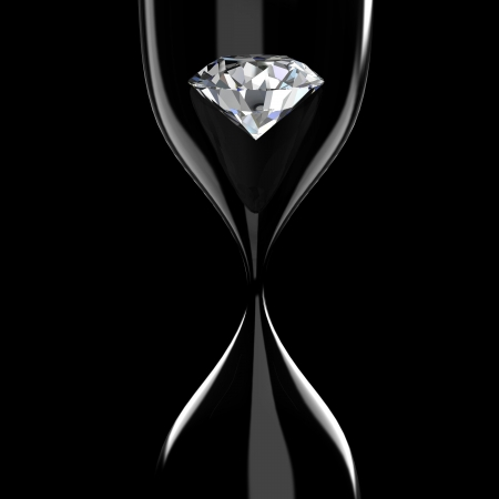 diamond stones: diamond in hourglass