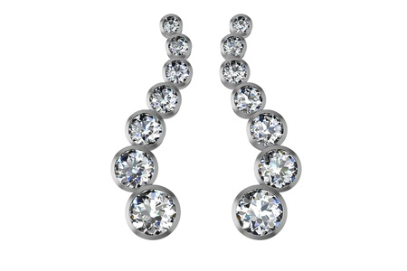 The beauty diamond earrings Фото со стока