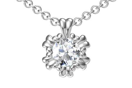 The beauty diamond pendant 스톡 콘텐츠