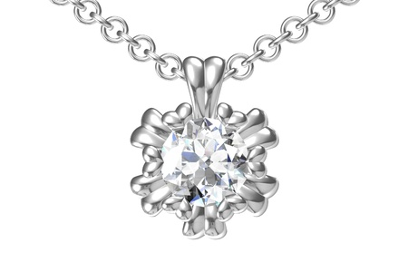 The beauty diamond pendant 版權商用圖片