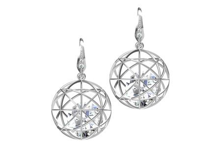 aretes: Los aretes de diamante de belleza