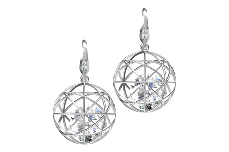 earring: The beauty diamond earrings Stock Photo