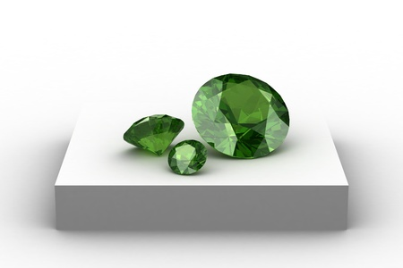 spinel: Peridot  on white podium