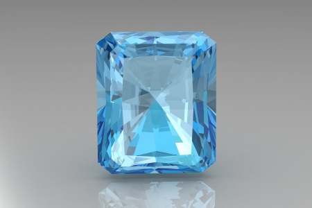 beryl: aquamarine Stock Photo