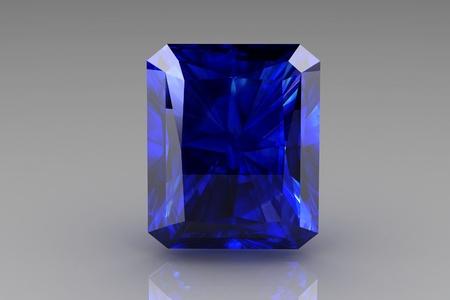 saphir bleu Banque d'images