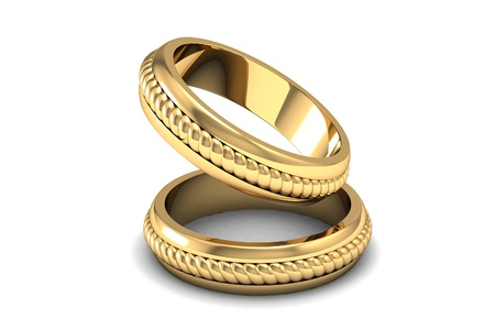 gold chain: The beauty wedding ring Stock Photo
