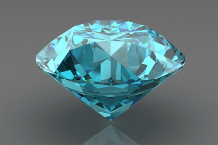 scintillation: blue  diamond Stock Photo
