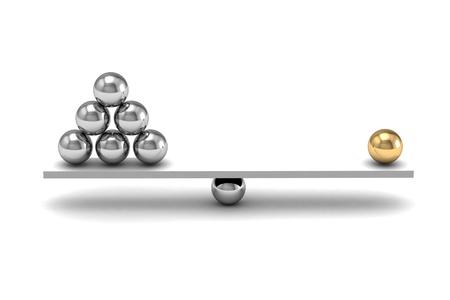imbalance: disbalans (hoge resolutie 3D-beeld)
