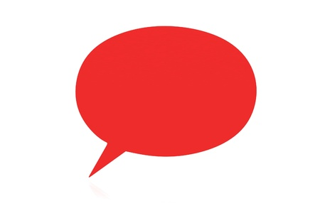 chat bubble: Speech bubbles Stock Photo