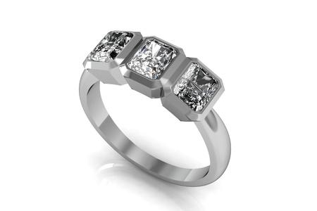 The beauty wedding ring 스톡 콘텐츠