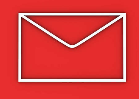 portability: Mail on red background Stock Photo