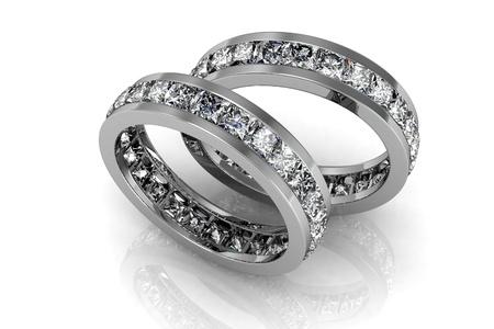 diamond ring: The beauty wedding ring Stock Photo