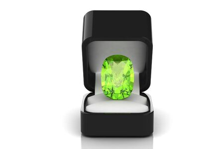 tsavorite: Peridot  in a gift box Stock Photo