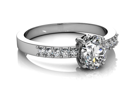Jewellery ring on a white background. 版權商用圖片