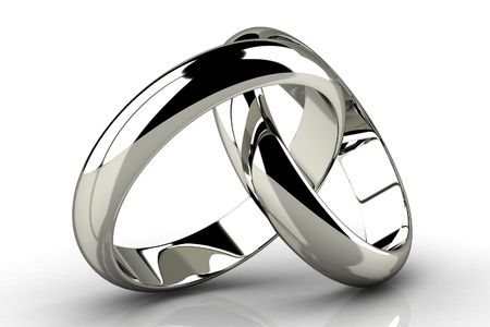 platinum: The beauty wedding ring Stock Photo