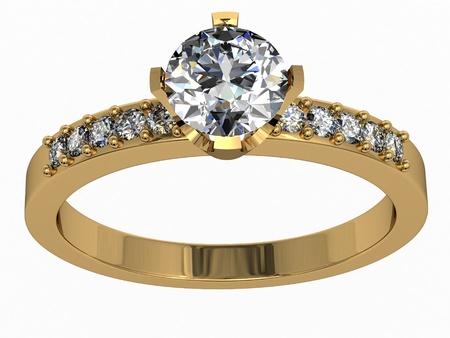 diamond rings: The beauty wedding ring Stock Photo