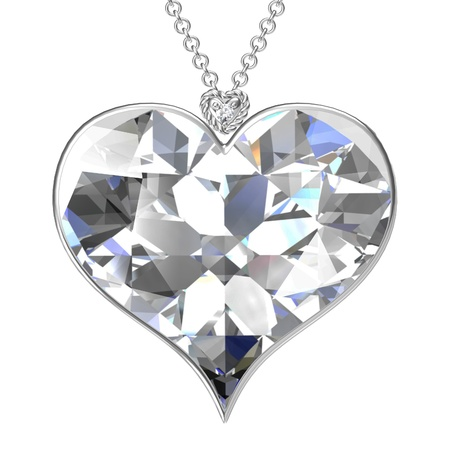 pendant: Heart pendant on white background. Stock Photo