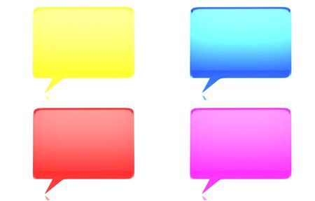 Speech bubbles on white background photo
