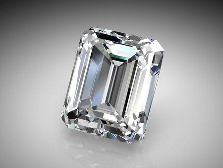 diamond jewel on white background photo