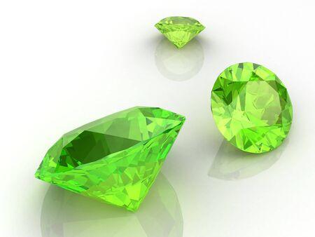 green tourmaline: Peridot  high resolution 3D image