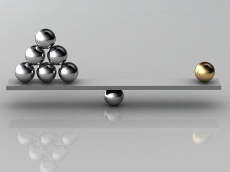 Ungleichgewicht hochauflösende 3D-Bild Standard-Bild