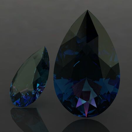 zircon: alexandrite (high resolution 3D image) Stock Photo